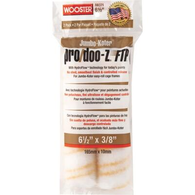 Wooster Jumbo-Koter P/D FTP 6-1/2 In. x 3/8 In. Woven Paint Roller Cover (2 Pack)