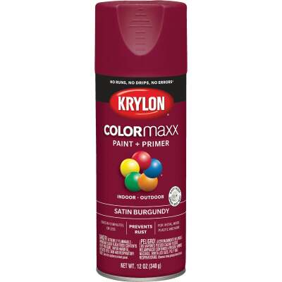 Krylon ColorMaxx 12 Oz. Satin Spray Paint, Burgundy