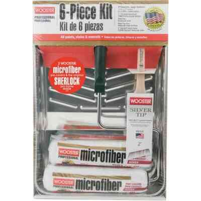 Wooster Microfiber Roller & Tray Kit (6-Piece)