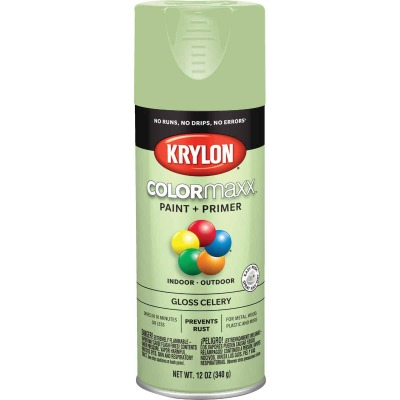 Krylon ColorMaxx 12 Oz. Gloss Spray Paint, Celery