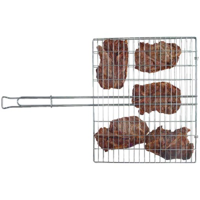 Rome Industries 9-1/2 In. W. x 12 In. L. x 2-1/2 In. D. Steel Broiler Basket