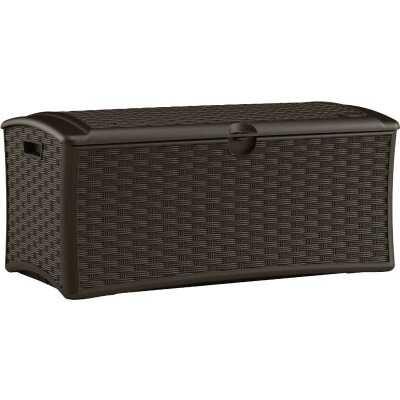 Suncast 72 Gal. Resin Wicker Brown Deck Box