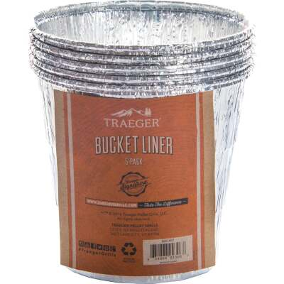 Traeger Aluminum Grease Bucket Liner (5-Pack)