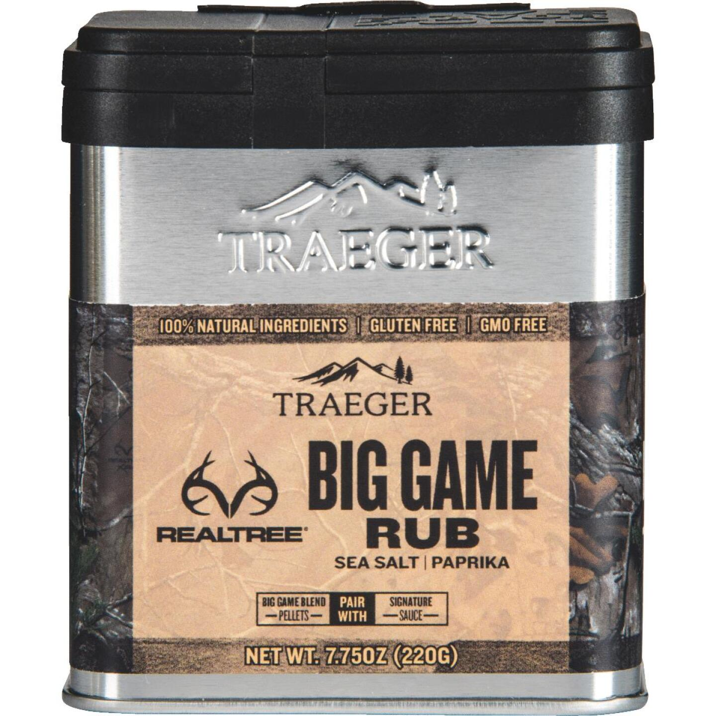 Traeger Realtree 7.75 Oz. Sea Salt & Paprika Flavor Big Game Rub Image 1