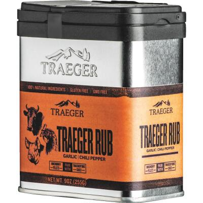 Traeger 9 Oz. Garlic & Chili Pepper Flavor Beef, Pork & Poultry Rub