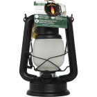 Everlasting Glow 4.5 In. W. x 9.5 In. H. x 6.25 In. L. Matte Black Hurricane Lantern Image 3