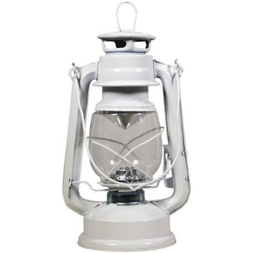 Alpine 5 In. W. x 9 In. H. x 6 In. L. White Cool White LED Hurricane Patio Lantern