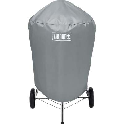 Weber 22 In. Gray Vinyl Kettle Grill Cover