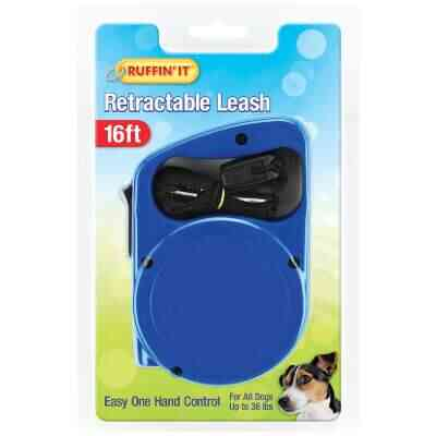 Westminster Pet Ruffin' it 16 Ft. Webbed Up to 36 Lb. Dog Retractable Leash