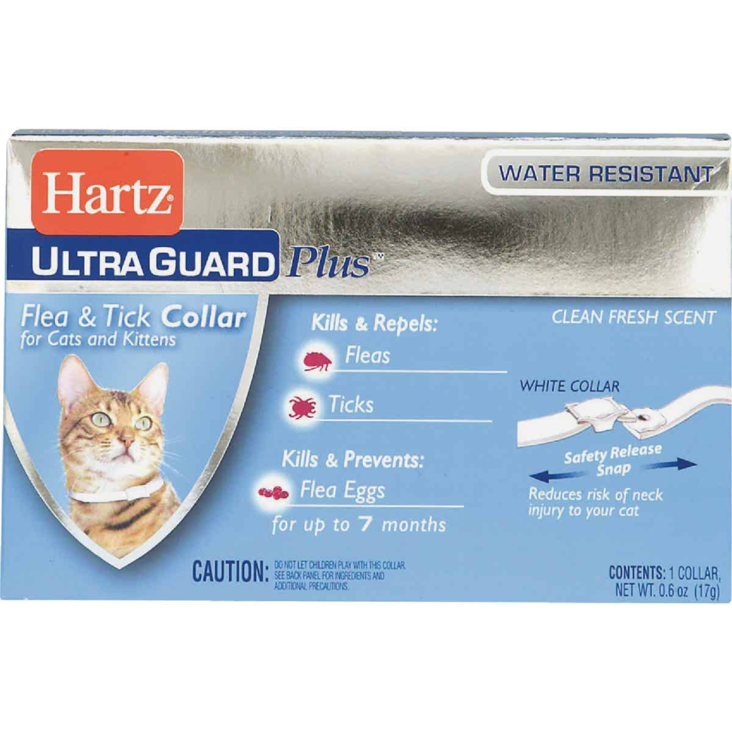 Hartz Ultra Guard Plus Water Resistant Flea & Tick Collar For Cats & Kittens Image 1
