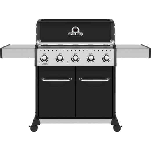 Broil King Baron 520 Pro 5-Burner Black 45,000 BTU LP Gas Grill
