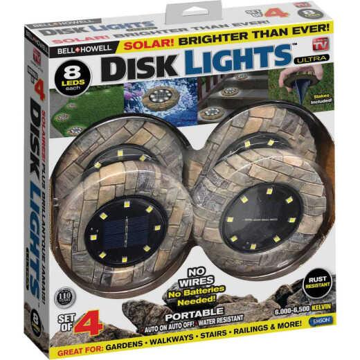 Bell+Howell Tan Stone Disk Light