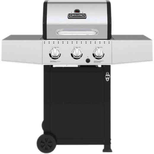 GrillPro 3-Burner Stainless Steel & Black 30,000 BTU LP Gas Grill