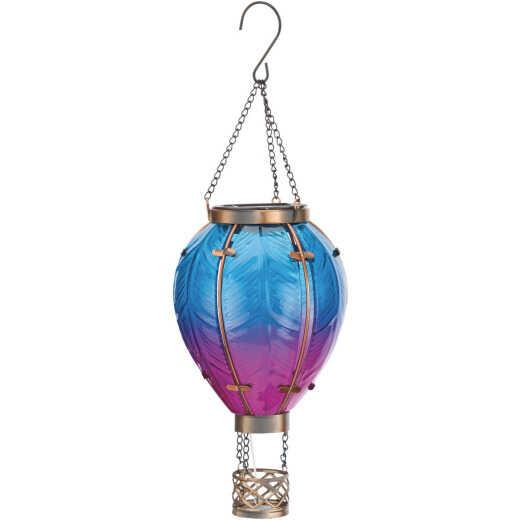 Regal Art & Gift Hot Air Balloon Solar Lantern SM - Blue