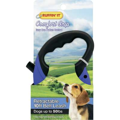 Westminster Pet Ruffin' it 10 Ft. Cord Up to 50 Lb. Dog Retractable Leash