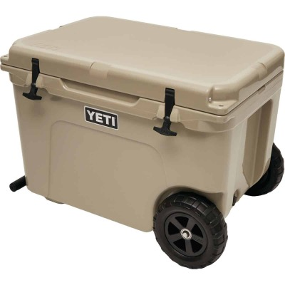 Yeti Tundra Haul 45-Can 2-Wheeled Cooler, Tan